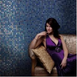 Стеклянная мозаика модели Ezarri Blue Moon