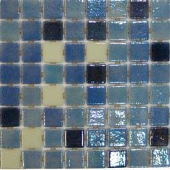 Стеклянная мозаика модели  Ezarri Premium Fosfo Blue