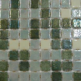 Стеклянная мозаика модели Premium Fosfo Green