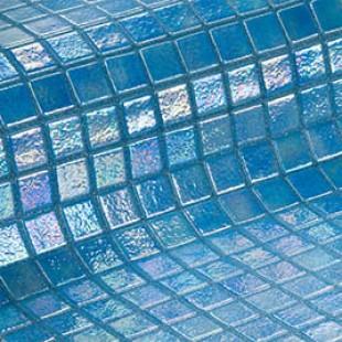 Стеклянная облицовочная мозаика модели Azur