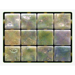 Lime Ondulato неровная стеклянная мозаика с волнистым эффектом
