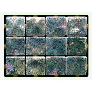 Mint Ondulato неровная стеклянная мозаика с волнистым эффектом