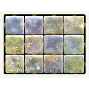 Turquoise Ondulato неровная стеклянная мозаика с волнистым эффектом