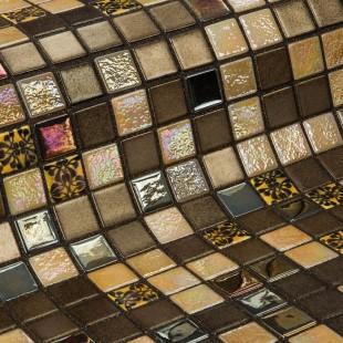 Стеклянная облицовочная мозаика модели Almonds