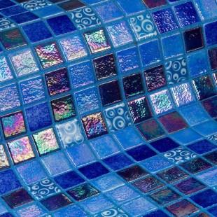 Стеклянная облицовочная мозаика модели Blueberries