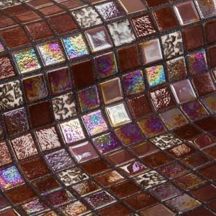 Стеклянная облицовочная мозаика модели Choco Bits