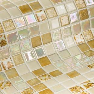 Стеклянная облицовочная мозаика модели Leaves