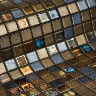 Стеклянная облицовочная мозаика модели Pecans