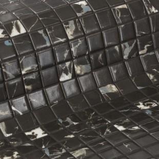 Стеклянная облицовочная мозаика модели Black Marble