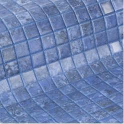 Стеклянная облицовочная мозаика модели Bluestone