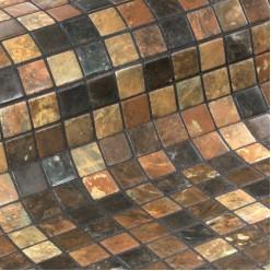 Стеклянная облицовочная мозаика модели Riverstone