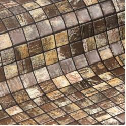 Стеклянная облицовочная мозаика модели Rustic
